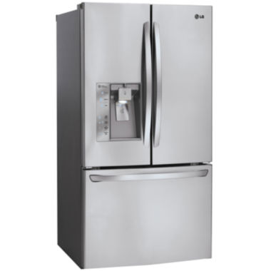 jcpenney.com | LG ENERGY STAR® 31.7 cu. ft. Mega Capacity 3-Door French Door Refrigerator with Slim SpacePlus® Ice System