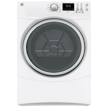 jcpenney.com | GE® 7.5 cu. ft. High-Efficiency Gas Dryer with Sensor Dry Silver Door
