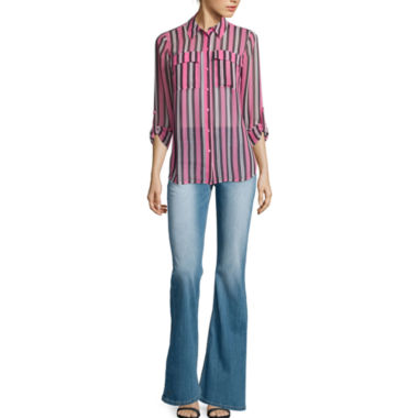 jcpenney.com | I 'Heart' Ronson® Striped Roll-Cuff Blouse or Flare-Leg Jeans