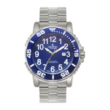 jcpenney.com | Croton Mens Blue Stainless Steel Sport Watch
