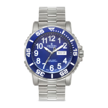 jcpenney.com | Croton Mens Blue Dial Stainless Steel Watch