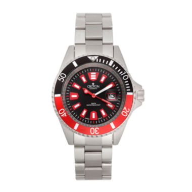 jcpenney.com | Croton Mens Red and Black Stainless Steel Watch