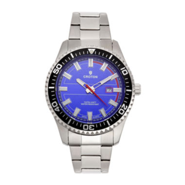 jcpenney.com | Croton Mens Blue Dial Stainless Steel Sport Watch