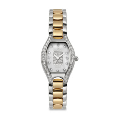 jcpenney.com | Croton Womens Diamond Accent Two-Tone Watch
