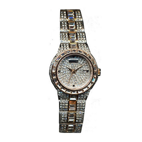 Croton Womens Austrian Crystal Two-Tone Watch