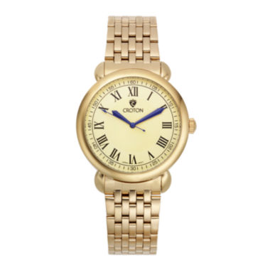 jcpenney.com | Croton Mens Gold-Tone Stainless Steel Watch
