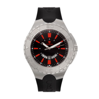 jcpenney.com | Croton Mens Black and Red Stainless Steel Watch