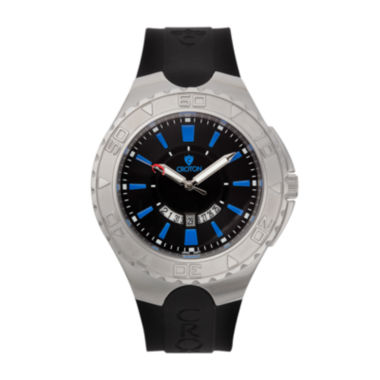 jcpenney.com | Croton Mens Black and Blue Stainless Steel Watch