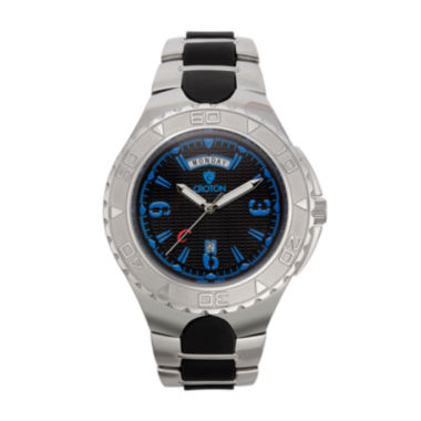 jcpenney.com | Croton Mens Black and Blue Two-Tone Stainless Steel Watch