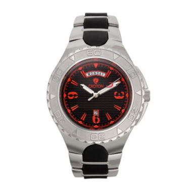 jcpenney.com | Croton Mens Black and Red Two-Tone Stainless Steel Watch