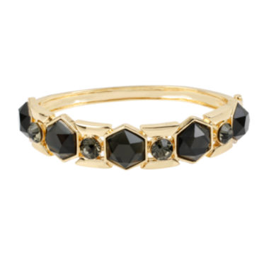 jcpenney.com | Worthington® Black Faceted Stone Hinged Skinny Bangle Bracelet
