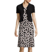 Danny & Nicole® Polka-Dot Jacket Dress