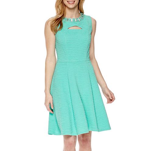 Studio 1® Embellished Fit-and-Flare Dress