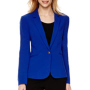 Chelsea Rose Long-Sleeve One-Button Jacket