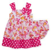 Bonnie Jean® Sleeveless Butterfly Sundress - Baby Girls newborn-24m