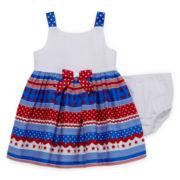 Bonnie Jean® Sleeveless American Dress - Baby Girls newborn-24m
