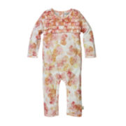 Burt's Bees Baby™ Long-Sleeve Floral-Print Coverall - Baby Girls newborn-24m