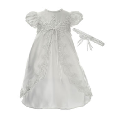 jcpenney.com | Keepsake® Short-Sleeve Christening Dress and Headbamd - Baby Girls newborn-12m