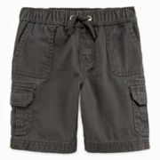 Arizona Pull-On Twill Cargo Shorts - Toddler Boys 2t-5t