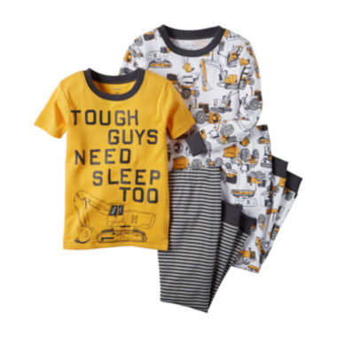 jcpenney.com | Carter's® 4-pc. Tough Guy Cotton Pajama Set - Toddler Boys 2t-5t