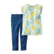 Carter's® Short-Sleeve 2-pc. Jeggings Set - Baby Girls newborn-24m