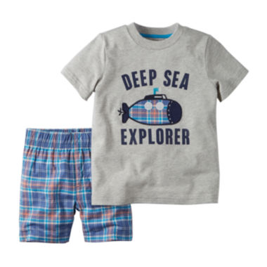 jcpenney.com | Carter's® Short-Sleeve Graphic Tee and Shorts Set - Toddler Boys 2t-5t