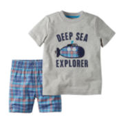 Carter's® Short-Sleeve Graphic Tee and Shorts Set - Toddler Boys 2t-5t