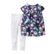 Carter's® Cap-Sleeve 2-pc. Leggings Set - Toddler Girls 2t-5t