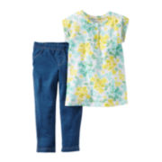 Carter's® Short-Sleeve 2-pc. Jeggings Set - Toddler Girls 2t-5t
