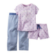 Carter's® 3-pc Pajama Set - Toddler Girls 2t-5t