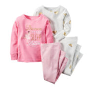 Carter's® 4-pc. Gold Heart Pajama Set - Toddler Girls 2t-5t