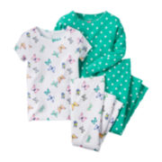 Carter's® 4-pc. Butterfly Pajama Set - Toddler Girls 2t-5t