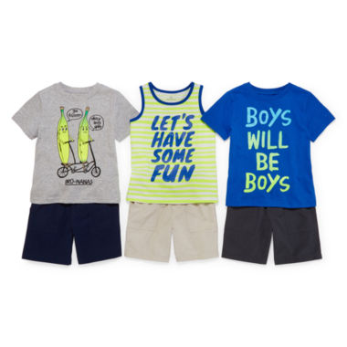 jcpenney.com | Okie Dokie® Graphic Tees, Tank or Shorts - Toddler Boys 2t-5t