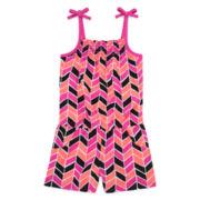 Okie Dokie® Sleeveless Smock Romper - Preschool Girls 4-6x