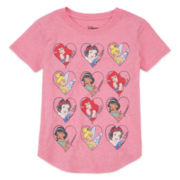Disney Collection Sleeveless Princess Hearts Tee - Girls 7-16