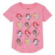 Disney Collection Sleeveless Princess Hearts Tee - Girls 7-16