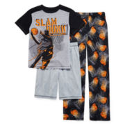Jelli Fish Kids 3-pc. Play Basketball Pajama Set - Boys 4-16