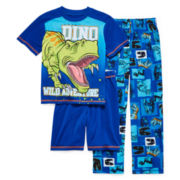 Jelli Fish Kids 3-pc. Dino Pajama Set - Boys 4-16