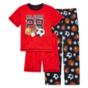 Jelli Fish Kids 3-pc. Sport Pajama Set - Boys 8-20