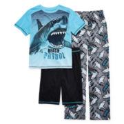 Jelli Fish Kids 3-pc. Shark Pajama Set - Boys 4-16