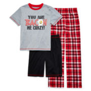Jelli Fish Kids 3-pc. Play Bacon Pajama Set - Boys 4-16