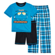 Jelli Fish Kids 3-pc. Play Taco Pajama Set - Boys 4-16
