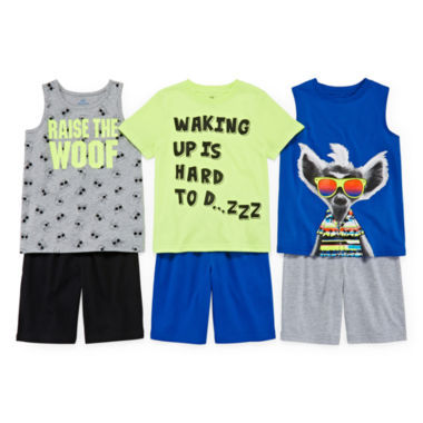 jcpenney.com | Okie Dokie® Muscle Tee, Stripe Tank, Tee or Shorts - Preschool