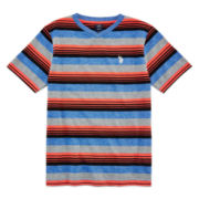 U.S. Polo Assn.® Short-Sleeve Marled Striped Tee - Boys 8-18