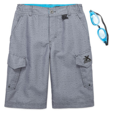 jcpenney.com | ZeroXposur® Beach 2 Street Crossdye Swim Trunks with Goggles - Boys 8-20