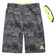 ZeroXposur® Beach 2 Street Camo Swim Trunks with Goggles - Boys 8-20