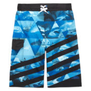 Pipeline 4-Way Stretch Shark Swim Trunks - Boys 8-20
