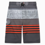 Pipeline 4-Way Stretch Striped Swim Trunks - Boys 8-20
