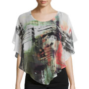 Alyx® Short-Sleeve Splatter Print Blouse