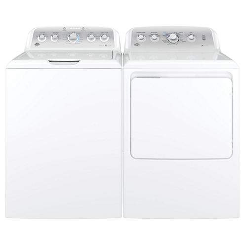 GE® Top Load 2-pc. Electric Washer & Dryer Package- White